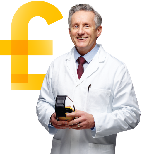 business energy customer with pound icon